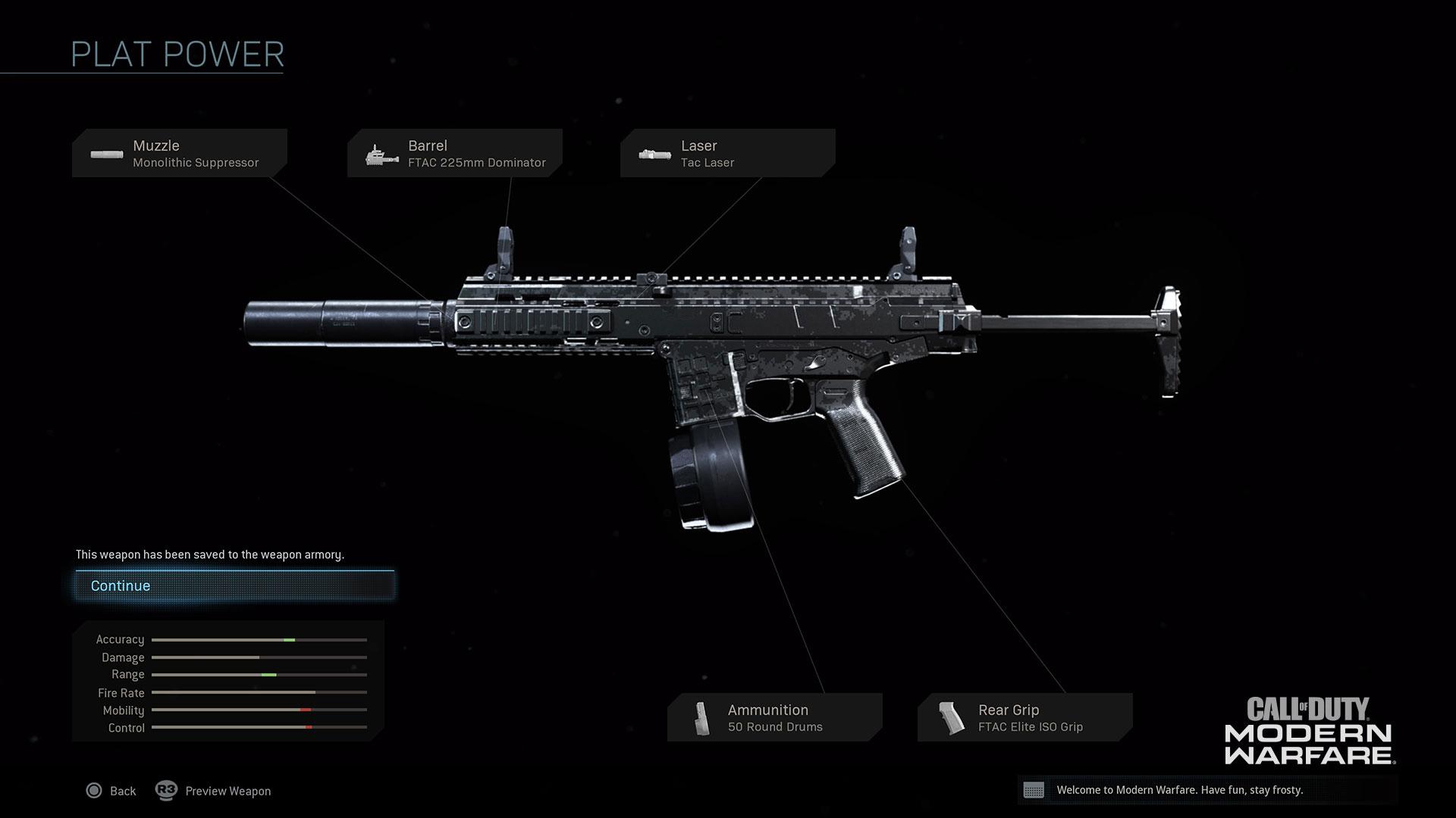 Modern Warfare® Weapon Detail: ISO