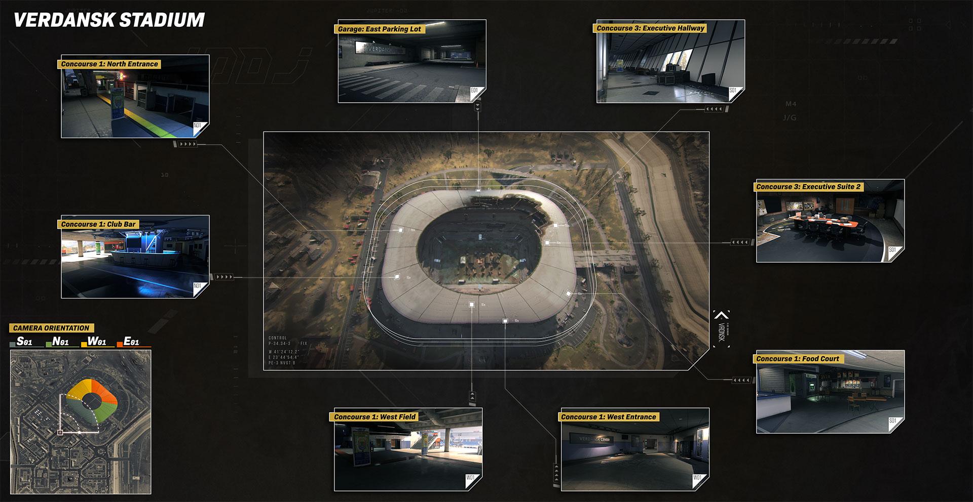 Points d'intérêt du stade de Verdansk Warzone