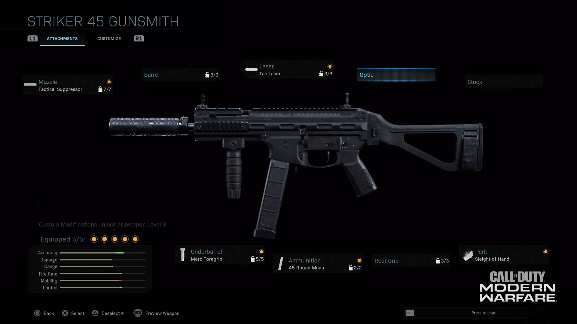 Modern Warfare® Weapon Detail: Striker 45 - Image 3