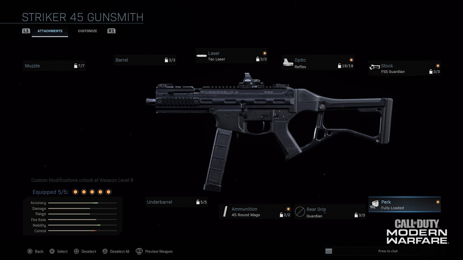 Modern Warfare® Weapon Detail: Striker 45 - Image 1