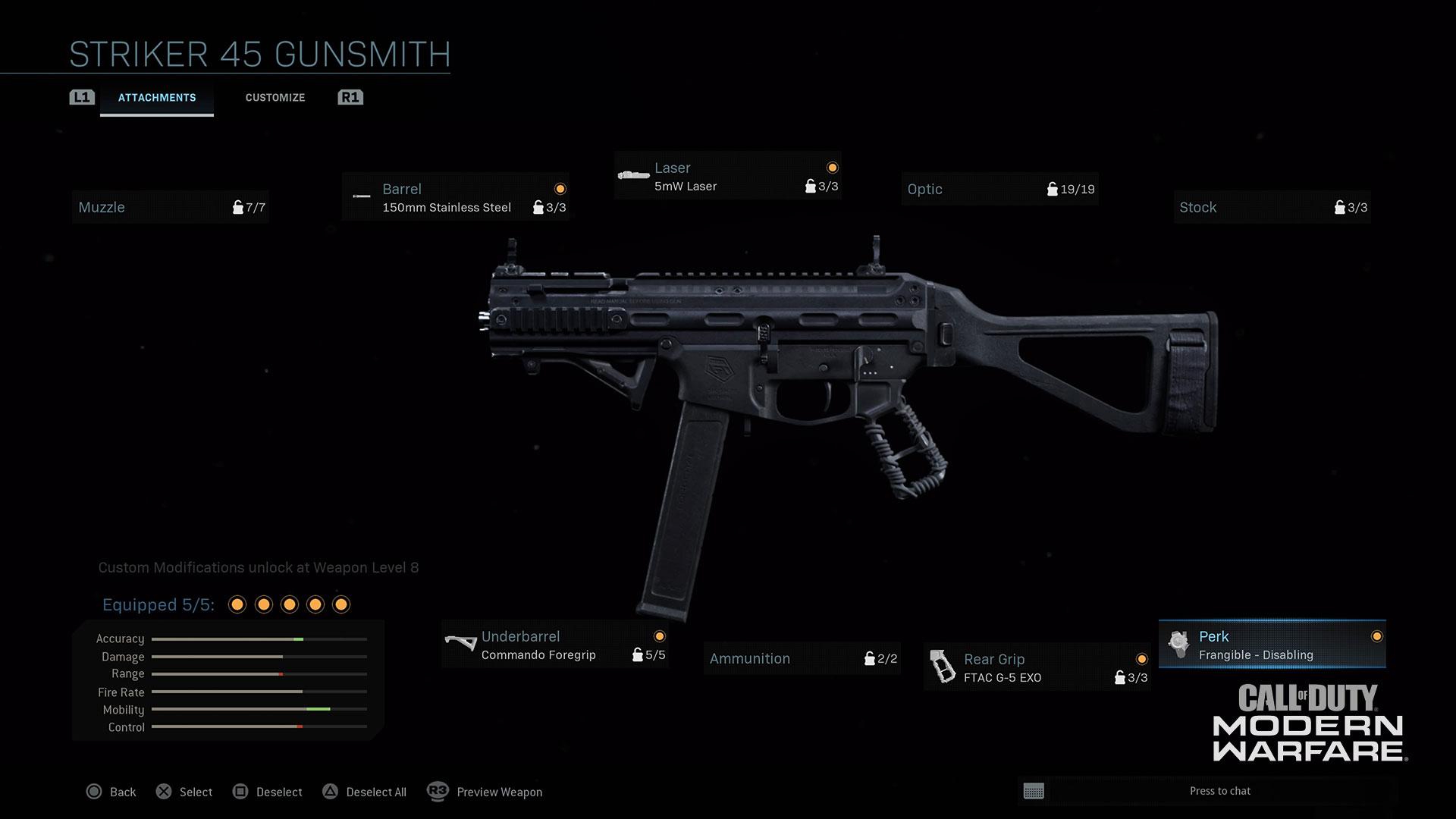 Modern Warfare® Weapon Detail: Striker 45 - Image 2
