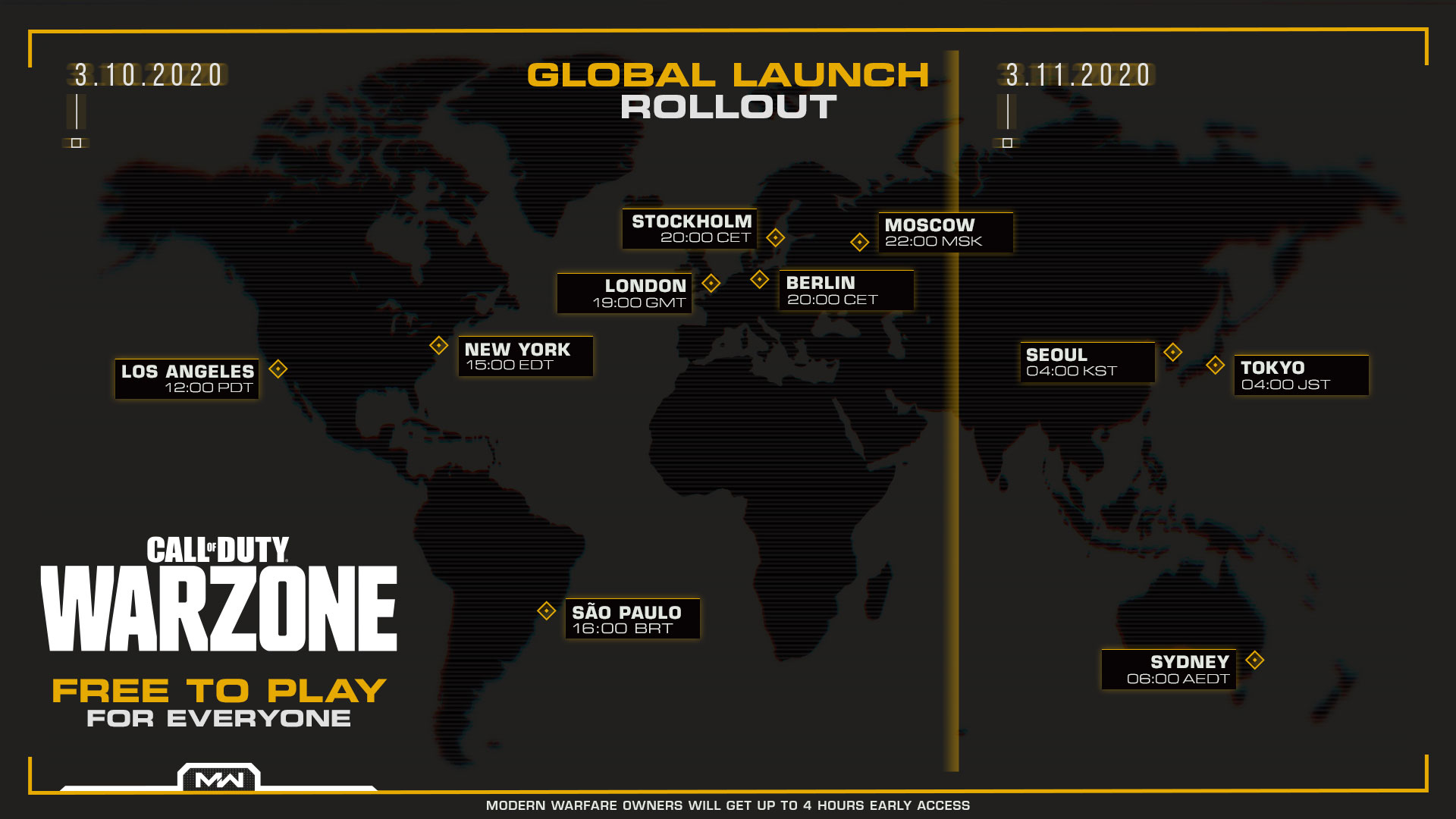 CALL OF DUTY WARZONE RELEASE TIME MAP