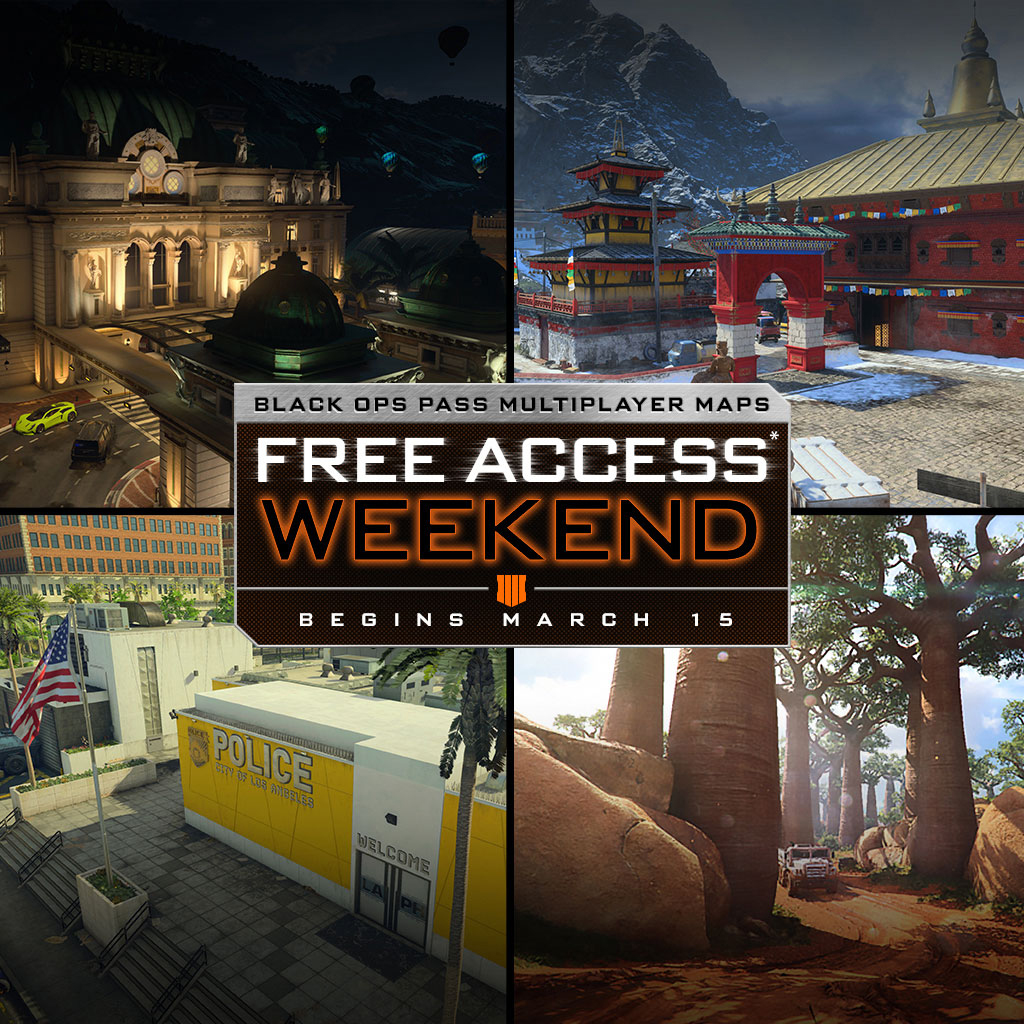The Black Ops Pass Multiplayer Maps Free Access Weekend Starts