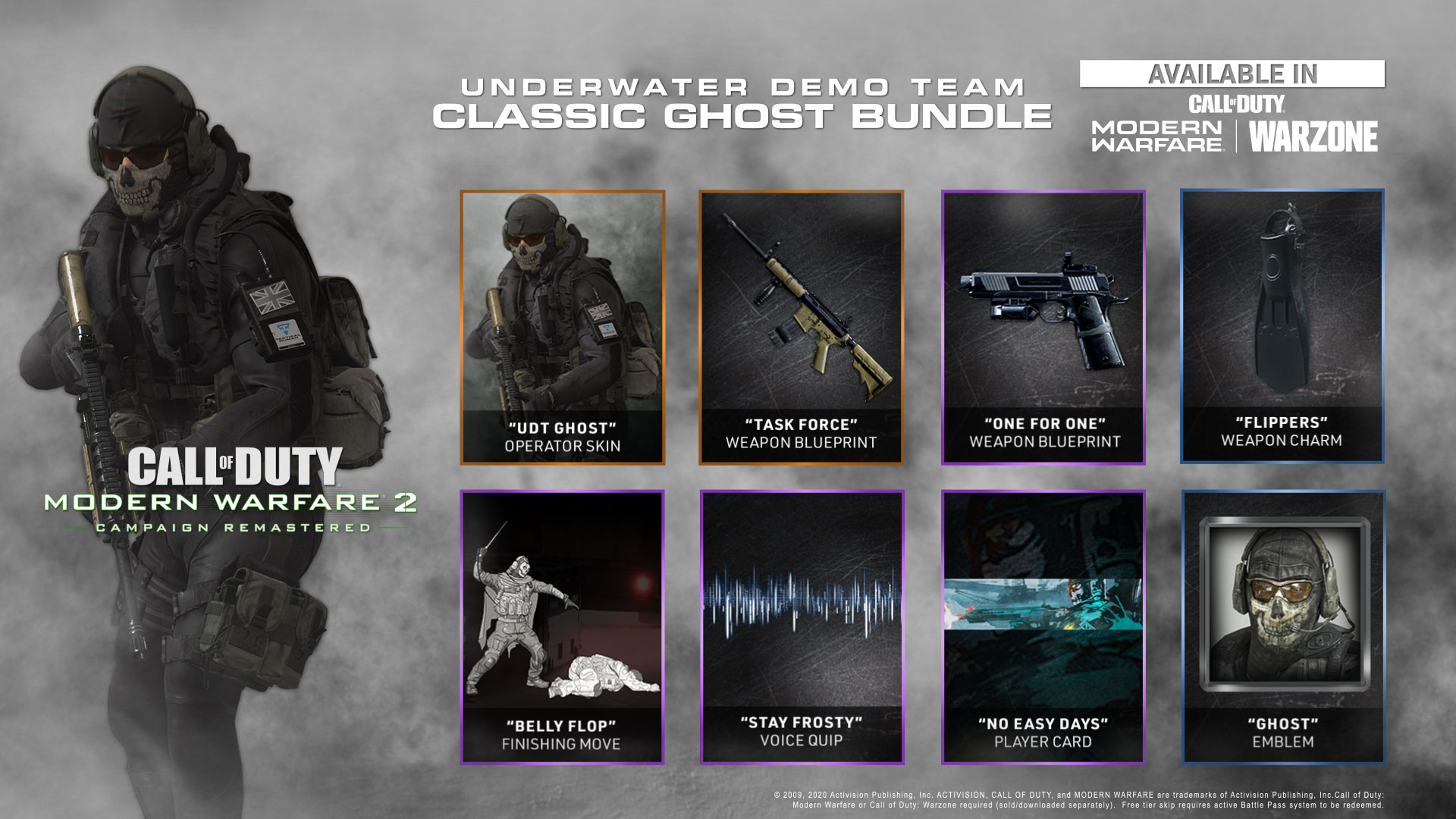 Announcing Call of Duty®: Modern Warfare® 2 Campaign Remastered, featuring the UDT Classic Ghost Bundle for instant access in Call of Duty: Modern Warfare, including Call of Duty: Warzone - Image 2