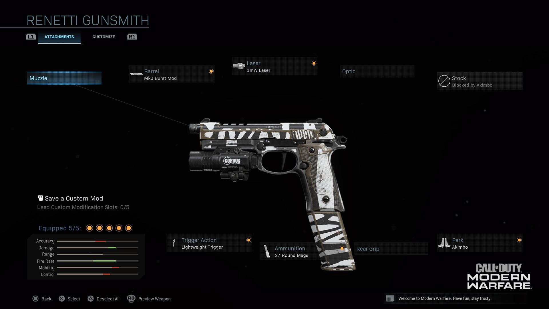 Modern Warfare® Weapon Detail: Renetti - Image 1