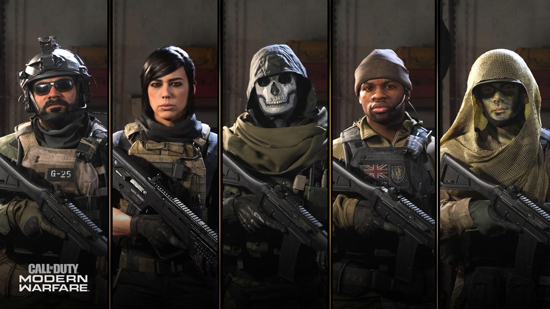 call of duty modern warfare characters
