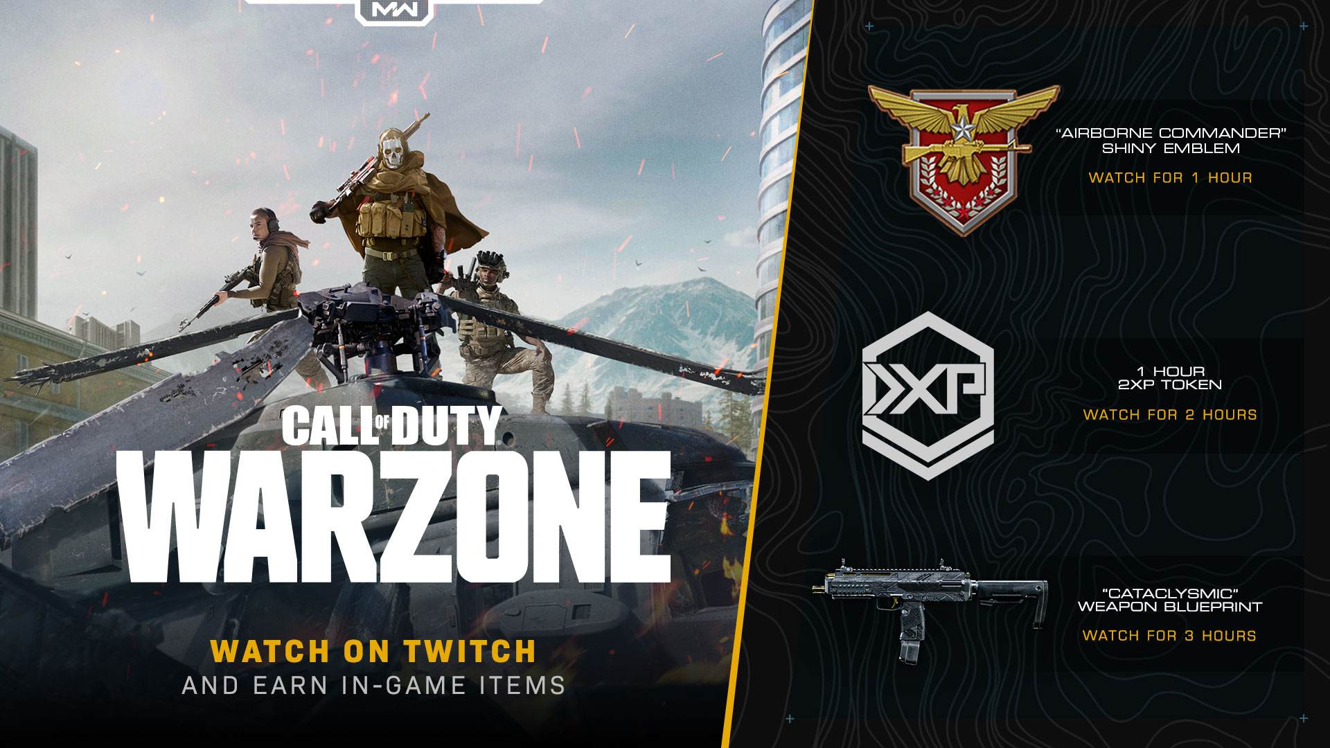 Earn Rewards to equip in Modern Warfare® Multiplayer, Special Ops, and Warzone by Watching Twitch [Update - Event Extended!] - Image 1