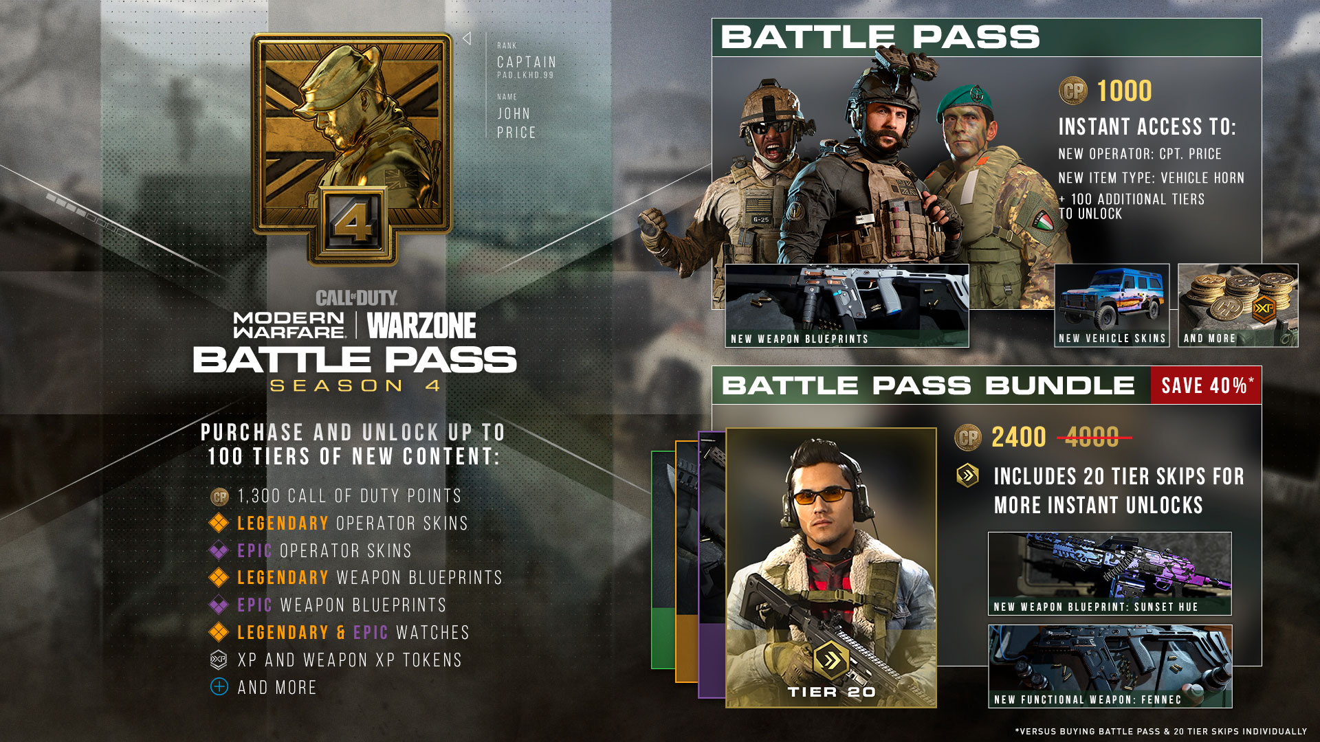 The Modern Warfare Season Four Battle Pass Is Live With Captain Price