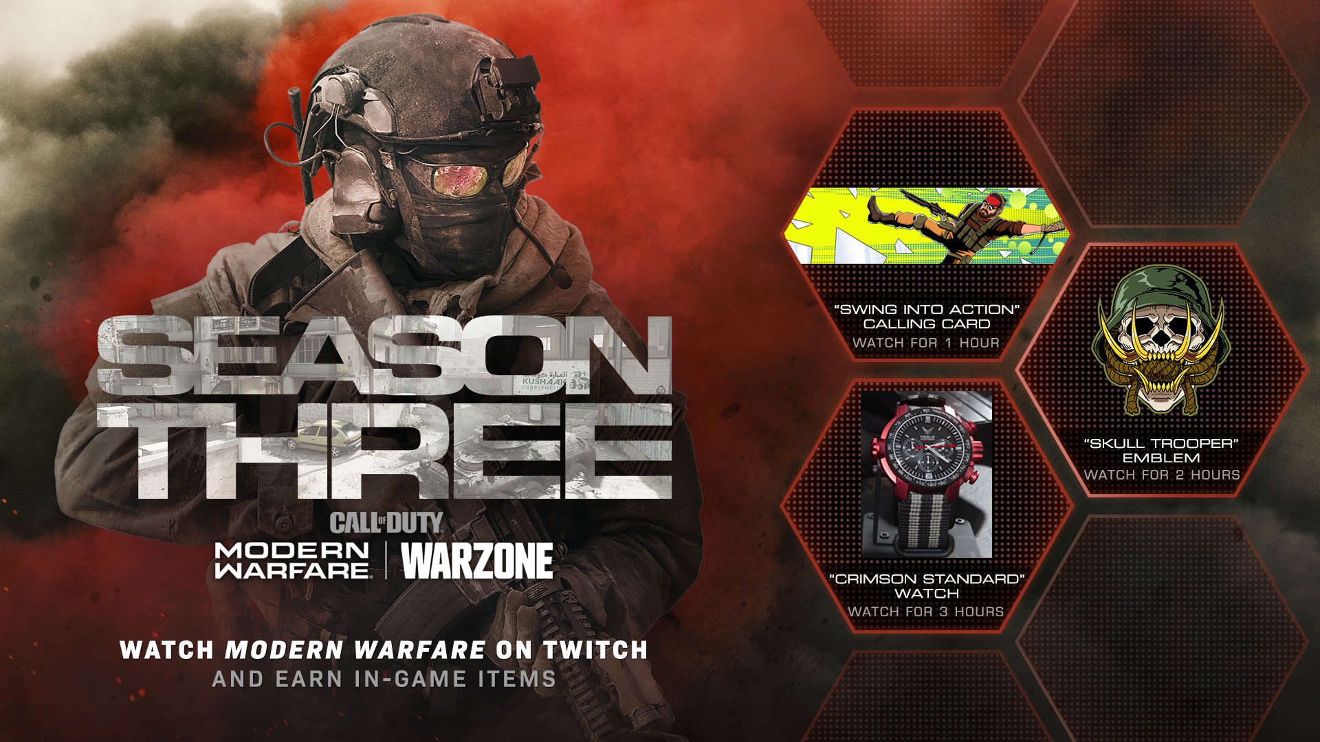 Earn Rewards to equip in Modern Warfare® Multiplayer, Special Ops, and Warzone by Watching Twitch [Update - Event Ended] - Image 1