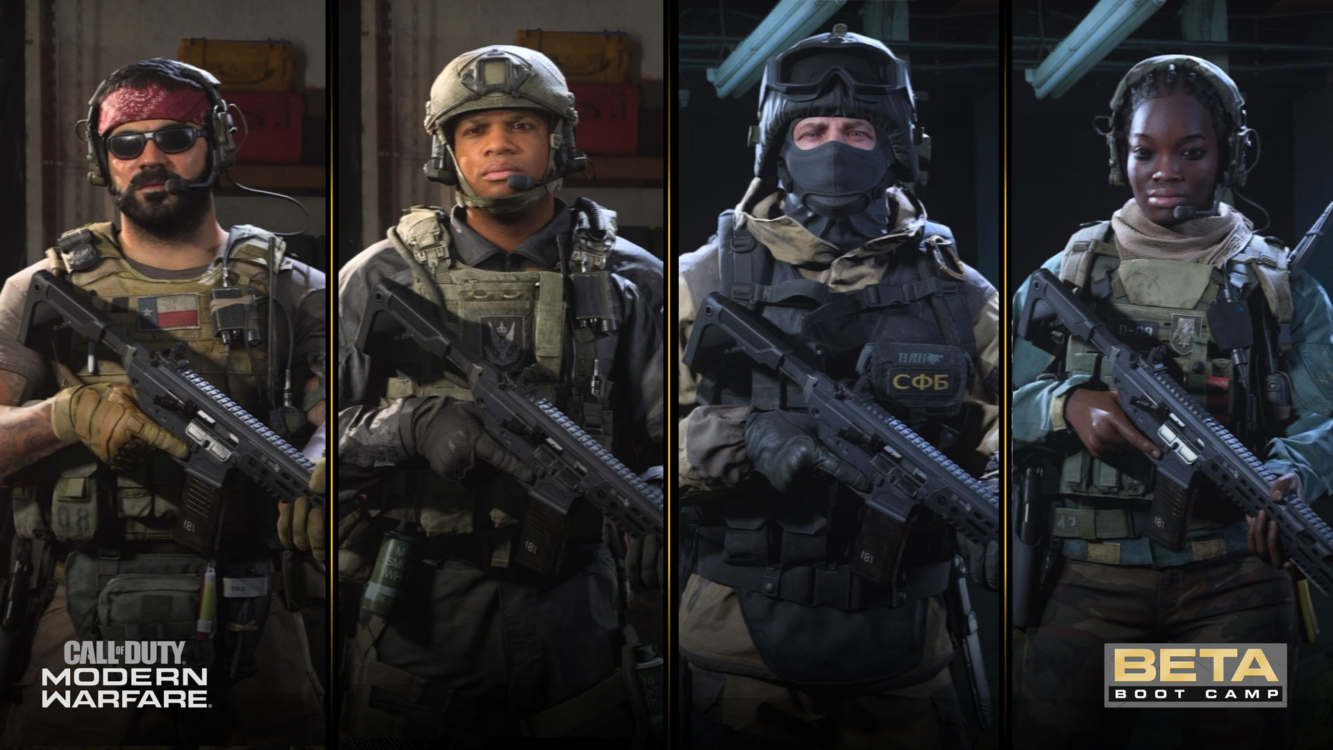 Modern Warfare Beta Boot Camp A Look At The Operators On Deck